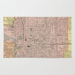 Vintage Map of Indianapolis Indiana (1903) Rug