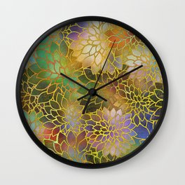 Floral Abstract 3 Wall Clock