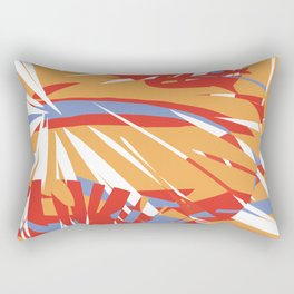 Abstract Leaves Rectangular Pillow