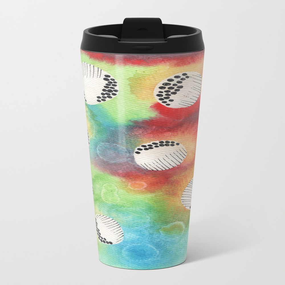 Watercolor Vibrant Abstract Painting Travel Mug TRM8943922