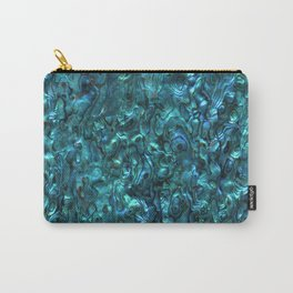 Abalone Shell | Paua Shell | Cyan Blue Tint Carry-All Pouch