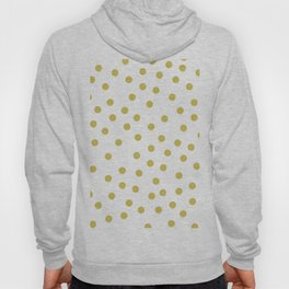 Simply Dots in Mod Yellow on White Hoody