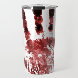 Zombie Handprint Travel Mug