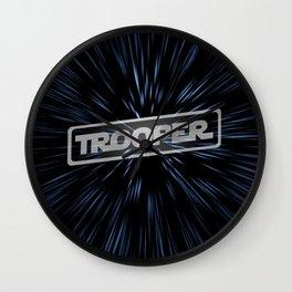 Warp Speed Trooper Wall Clock