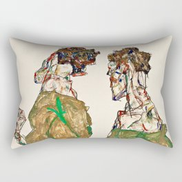 Egon Schiele - Devotion Rectangular Pillow