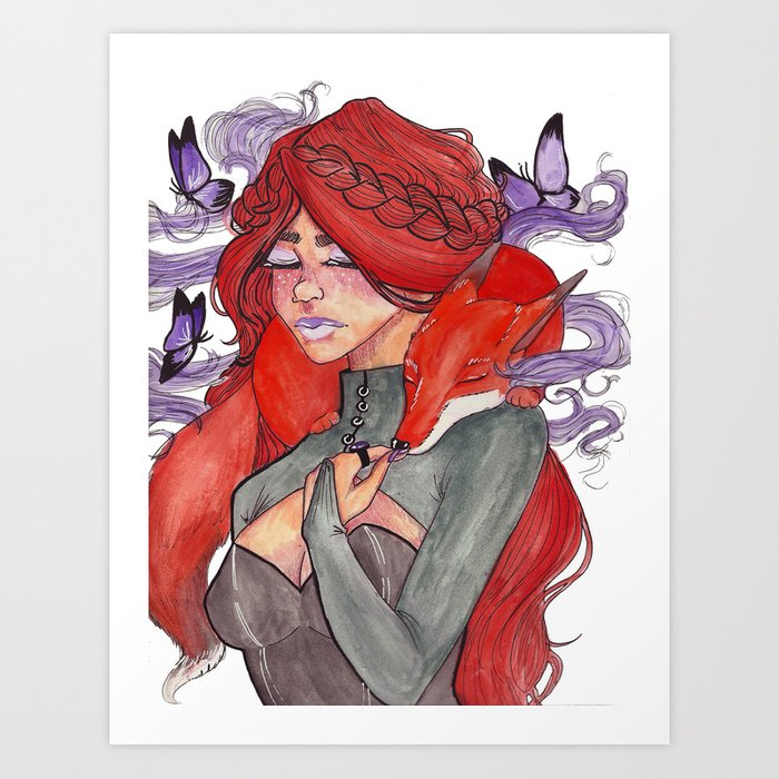 Fox Witch Art Print