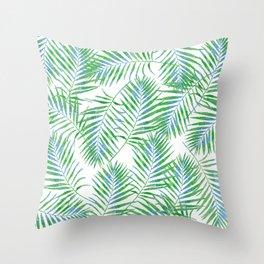 Fern Leaves Throw Pillow
