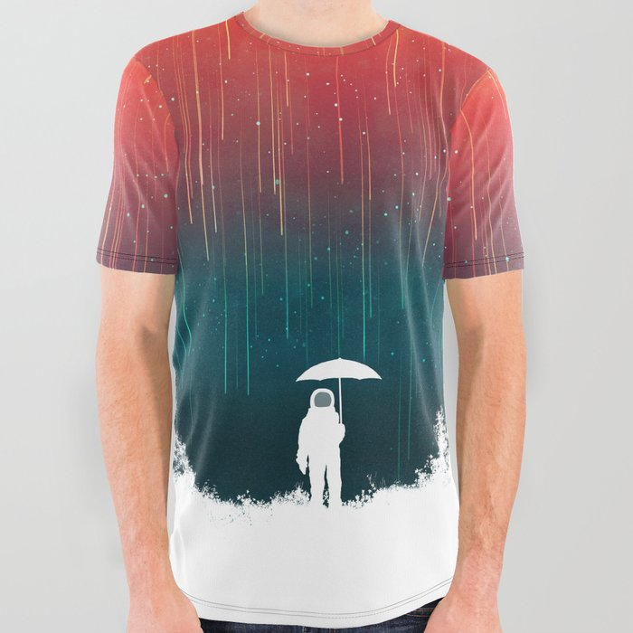 Meteoric rainfall All Over Graphic Tee