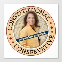 Constitutional Conservative Michele Bachmann Canvas Print