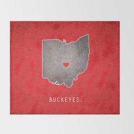 Ohio State Buckeyes Throw Blanket