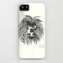 Doodle Lion iPhone Case