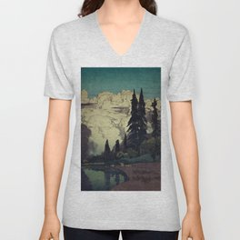 The Pending Storm at Hike Unisex V-Neck