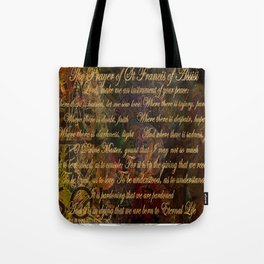 The Prayer of St Francis of Assisi Tote Bag