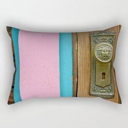 Doorknob Santa Rectangular Pillow