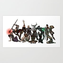 Strong Female Pose - Dragon Age group part 2 Art Print