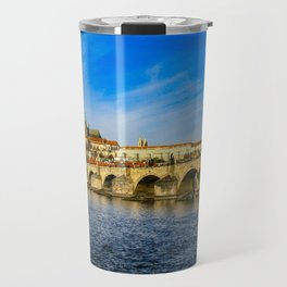 Charles Bridge in Prague Travel Mug