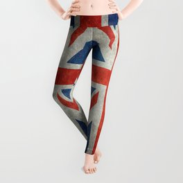 British flag of the UK, retro style Leggings