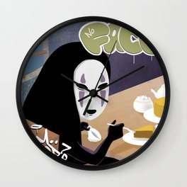 No Face Mm.. Food (MF Doom + Spirited Away) Wall Clock