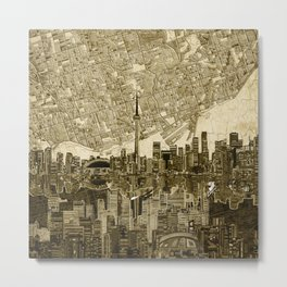 toronto city skyline Metal Print