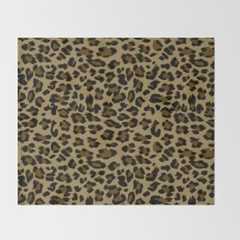 Leopard Print Pattern Throw Blanket