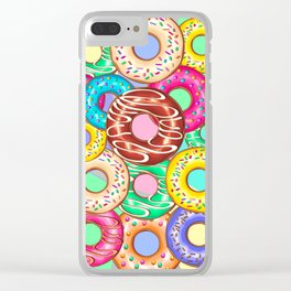 Donuts Punchy Pastel flavours Pattern Clear iPhone Case