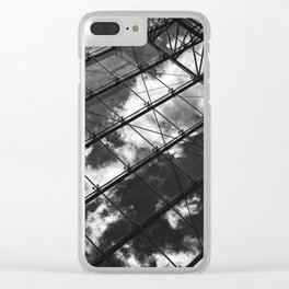 Glass Ceiling VIII (Portrait) - Black and White Architectural Photography Clear iPhone Case