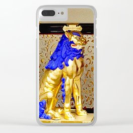 Gorudenraion, golden lion Clear iPhone Case