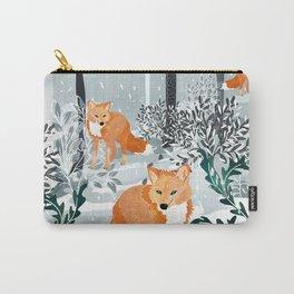 Fox Snow Walk Carry-All Pouch