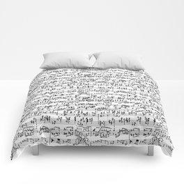 Hand Written Sheet Music Comforters