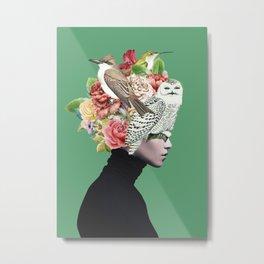 Lady with Birds(portrait) 2 Metal Print