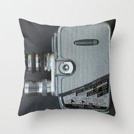 Vintage Cine Camera Throw Pillow