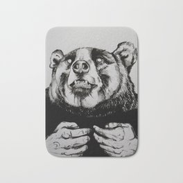 The Bear Man Bath Mat