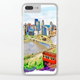 Pittsburgh Aerial View Clear iPhone Case
