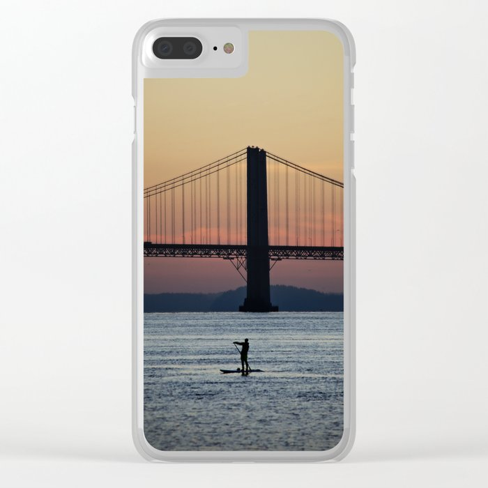 Sunset Paddle Clear iPhone Case