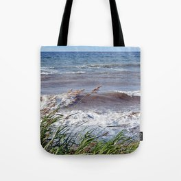 Waves Rolling up the Beach Tote Bag