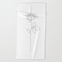 Fragile Rose Beach Towel