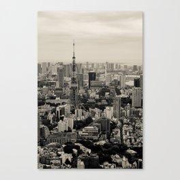 Sepia Tokyo Canvas Print