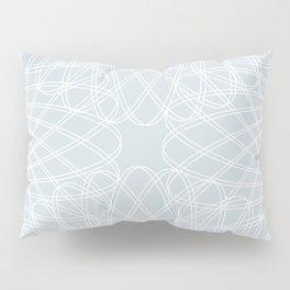 mathematical rotating roses - ice gray Pillow Sham