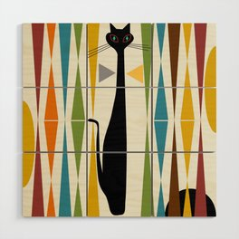Mid-Century Modern Art Cat 2 Wood Wall Art