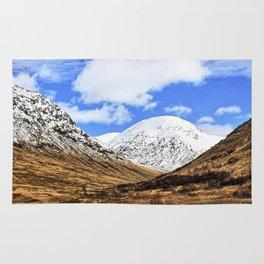 Spring in Glen Etive, Scottish highlands Rug