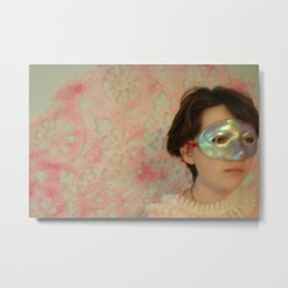 pink maske Metal Print