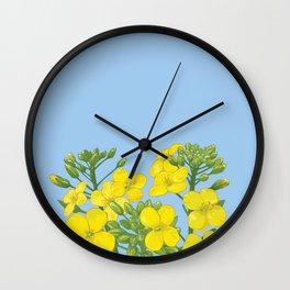 Summer flower in yellow Wall Clock