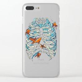 FISH BONE Clear iPhone Case