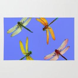 COLORFUL DRAGONFLIES IN BLUE SKY  DESIGN Rug