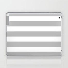 Gray and White Stripes Laptop & iPad Skin