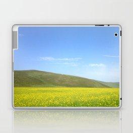 yellow flower field Laptop & iPad Skin