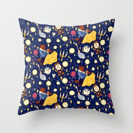 Be Our Guest Pattern Throw Pillow