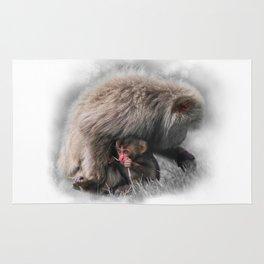 Baby Snow Monkey Rug