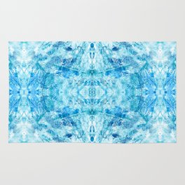 Crystal Stone - In Teal Aqua & Blue Rug