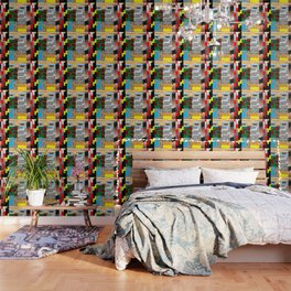 Pieces of fabrics Wallpaper